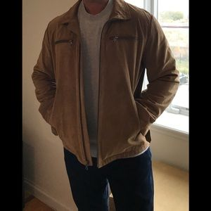 Men's Banana Republic Suede 100% leather jacket